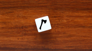 The workspace can show one die or up to 10 dice to use to motivate storytelling.
