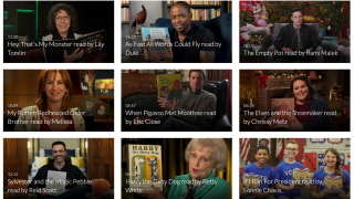 The Storyline Online section features celebrated actors demonstrating the love of reading.