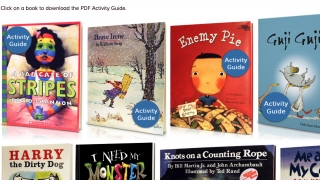 Activity guides include information about the author, illustrator, reader, and more.