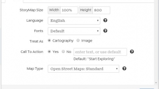 Select from a range of options for language, fonts, map size and type, and a call to action.