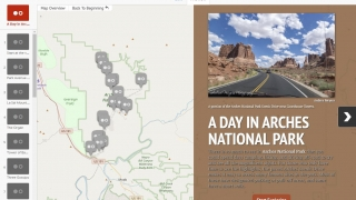 Preview mode shows you how your StoryMap looks as you build it.