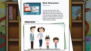 In-app purchases include more books, as well as more character options.