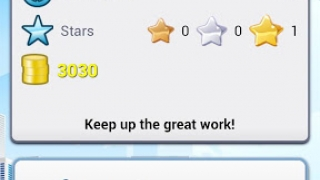 The My Profile page shows topics covered, time spent, stars, coins, and a button to customize avatars.
