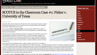 The SCOTUS in the Classroom resources let teachers and students mirror SCOTUS's work in real time.