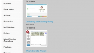 Browse through topics to set assignments; many topics include both student activities and teacher resources.