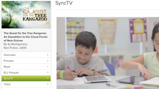 The SyncTV clips model age-appropriate critical discussion and text analysis; some even offer extra guidance for ELL kids.