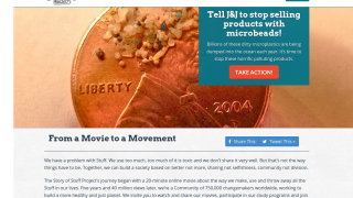 The goal of the website is to move from the movie to a movement.