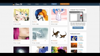 Users can post creations on a community message board.