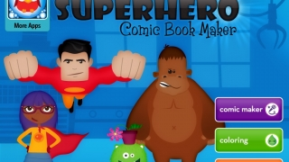Bright bold colors and lots of options draw kids into this creative storytelling app.