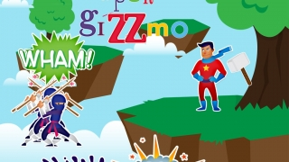 Kids can name their superhero and create action-packed story scenes with audio stories.