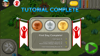 Each level you complete awards you trophies depending on how much money you spend.