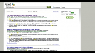 Students can bookmark, save, or share search results.
