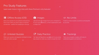 Premium features include offline access and more opportunities for practice.