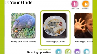Stories are organized into grids, which can also be linked together.