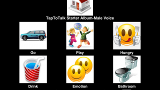Starter album includes some good pictures for basic communication.
