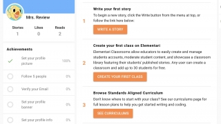Teachers can monitor student activity and even share students' work.