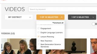 Teachers can easily search videos by topic, subject, or grade.