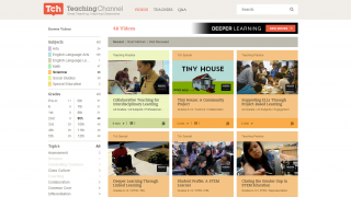 Teachers can search by subject area, grade, and topic to see videos on teaching practice.