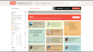 On the Q&A page, teachers can post and respond to questions.