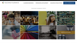 Browse resources for eight major topics from the home page.