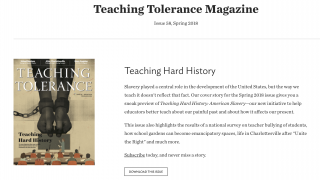 The Teaching Tolerance magazine -- free for teachers -- is full of engaging articles on diversity issues.