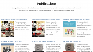 Publications collect a wealth of resources for teaching tough and timely topics.
