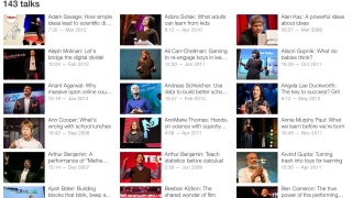 Teachers might use the TED app in the classroom or for their own edification.
