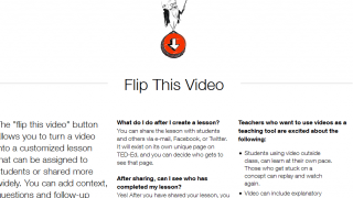 They're all about flipped classroom learning, and Ted-Ed videos work beautifully this way.