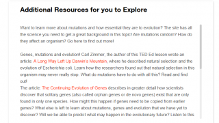 """Students can select """"Dig Deeper"""" to read more information on a topic."""