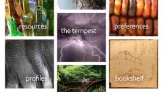 The start page and hub of Shakespeare's The Tempest for iPad is the honeycomb.