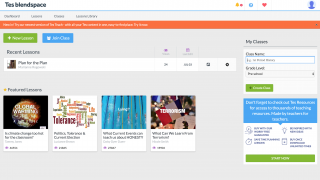 View all created lessons from the teacher dashboard.