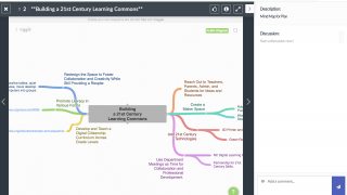 Teachers can upload content and pose questions in the comment area.