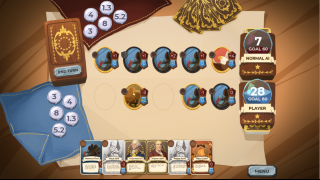 The playing board will look familiar to students who play popular card games like Hearthstone.