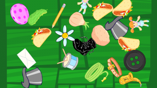 In one game, the user has o help clean up Ella's mess by finding things that start with a target letter.