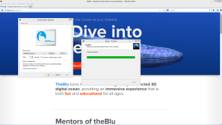 During installation, TheBlu changes your screensaver without warning or permission.
