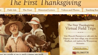 Home page where kids choose where to go on their journey of Thanksgiving discovery