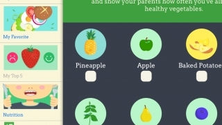 Kids can rate different foods and show adults which ones they eat each day.