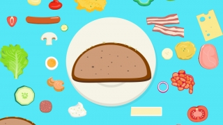 Kids can build their own sandwiches and print out the list of ingredients.