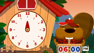 Kids can practice with the big hand of the clock.
