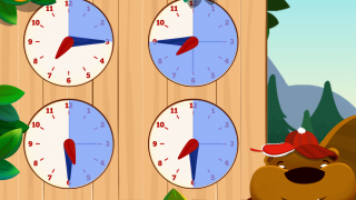 The clock drills use challenging concepts and vocabulary.