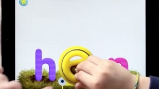 If you have them, use the toys to complete the words and make words and trigger animations -- like here, with a hen.