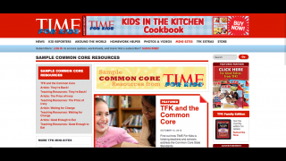 Teachers can view worksheets and other materials associated with about a half-dozen articles.