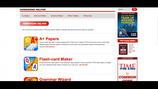 Kids can also take punctuation quizzes, use flashcards, and get writing tips on the site.