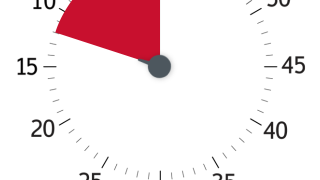 The default timer has a scale of 60 minutes and can be set with a swipe of the finger.