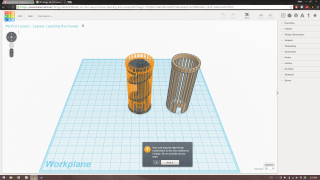 An introductory lesson in Tinkercad.
