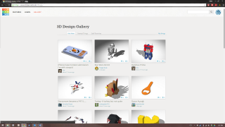 Users can share their design projects to a community gallery that allows others to comment and lets them tinker with them further.