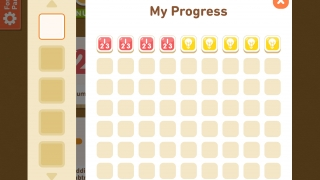 Track progress with badges for each level completed, after doing all 63 levels, kids earn a medal and start again.