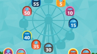 Kids interact with numbers on a clock circle in several games.