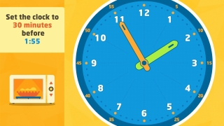 Subtraction and addition with clock time challenges kids at advanced levels.