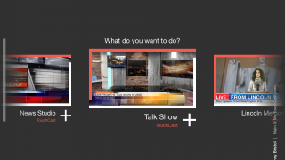 To start a new TouchCast, choose from several templates or start from scratch.